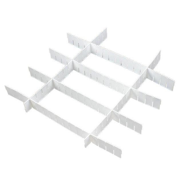 T-Beste In Aliexpress promotie 6x Witte Plastic DIY Grid Ladeverdeler Opslag Classificeren Deelgebied Organizer Thuis