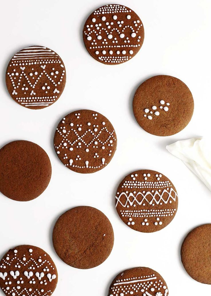 These Nordic Gingerbread Cookies are sturdy enough to decorate and soft enough to eat. They also boast the easiest powdered sugar decorating icing.