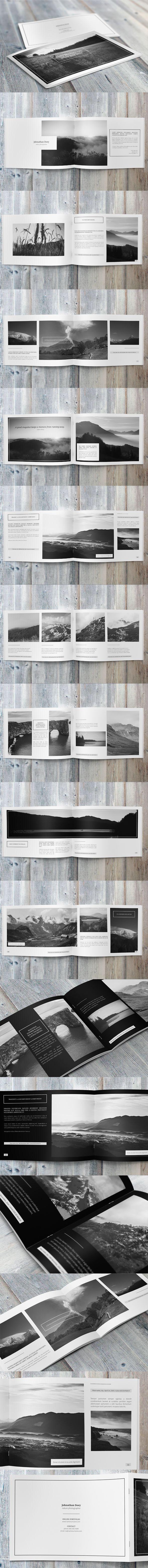 Minimalfolio Photography Portfolio A4 Brochure #5 on Behance