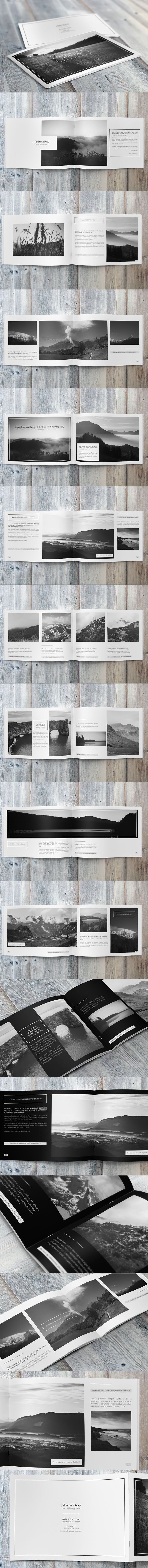 Minimalfolio Photography Portfolio A4 Brochure on Behance