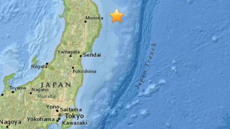 Japan has issued a tsunami advisory after a magnitude-6.9 earthquake struck off its northeastern coast.
