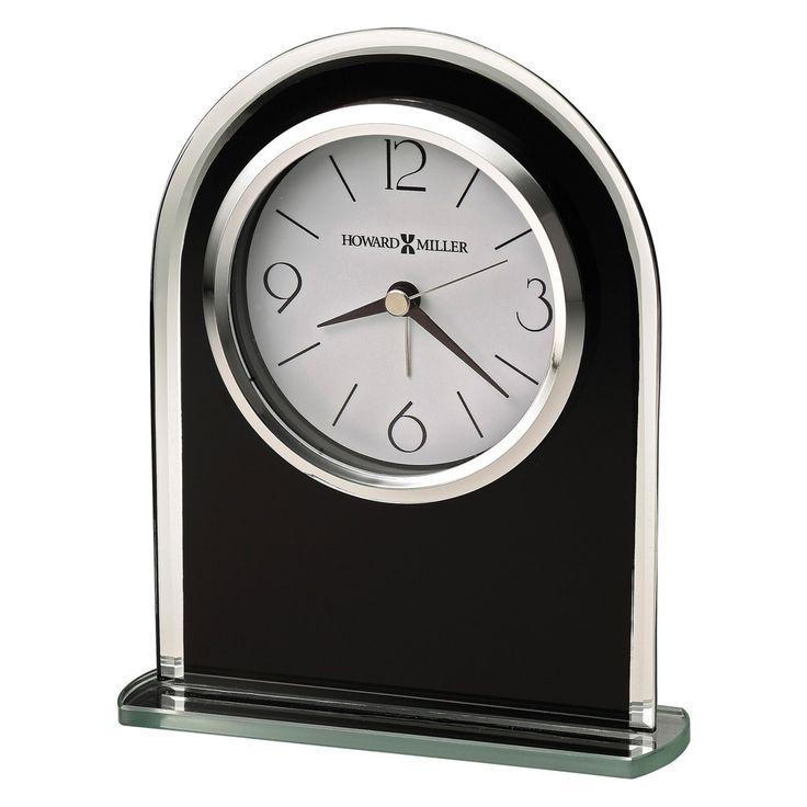 Howard Miller 645-702 Ebony Luster Desktop Clock - 645702