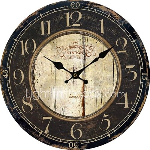 Euro Country Vintage Wall Clock 2017 - $18.74