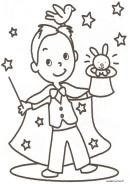 le rêve des enfants un beau tour de magie  http://ruedesmomes.fr/index.php/coloriage/category/15-coloriage-un-jour-je-serai