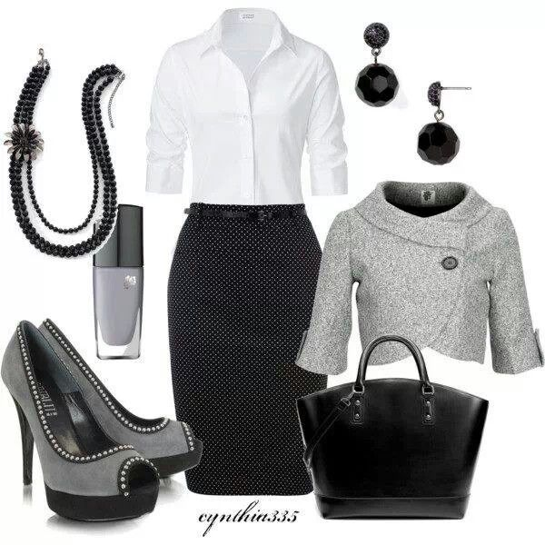 Classy black and white professional wear