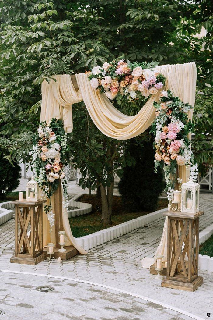 38 Floral Wedding Backdrop Ideas for 2019 Wedding ceremony decorations Wedding ceremony arch