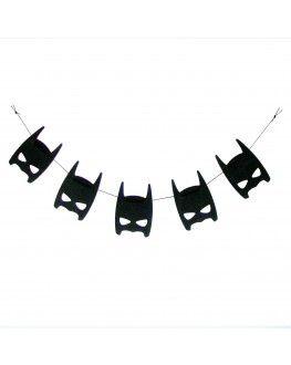 Die Superheldengirlande - Batman fürs Kinderzimmer von Foxella and Friends.  Gibt es bei www.kiebitzundschneck.de!
