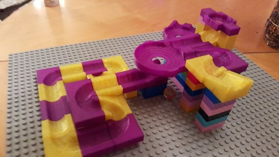 Lego Marble Run 3d Printed Toy In 2020 3d Druck 3d Prints Spielzeug