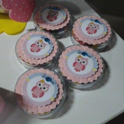 Decoração Festa Infantil Corujinha Rosa e Azul