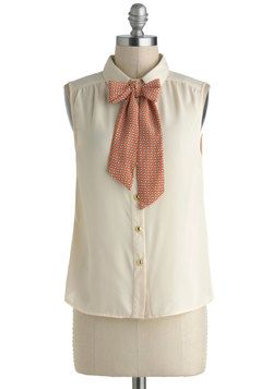 Got to Butterfly Top. On days when your schedule is packed from morning to night, dont stress over your outfit - choose something reliable yet chic, such as this sleeveless top! #white #modcloth