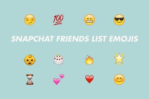 Snapchat Friend List Emojis Explained | Highsnobiety