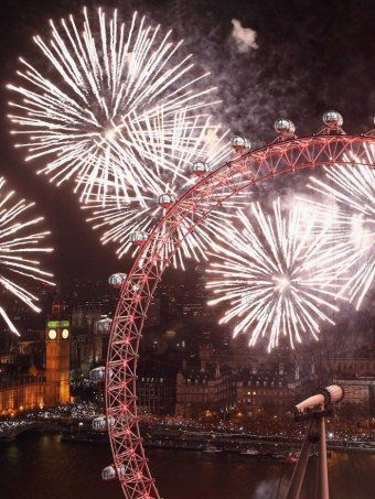 New Year fireworks in London. On my bucket list of things to see.