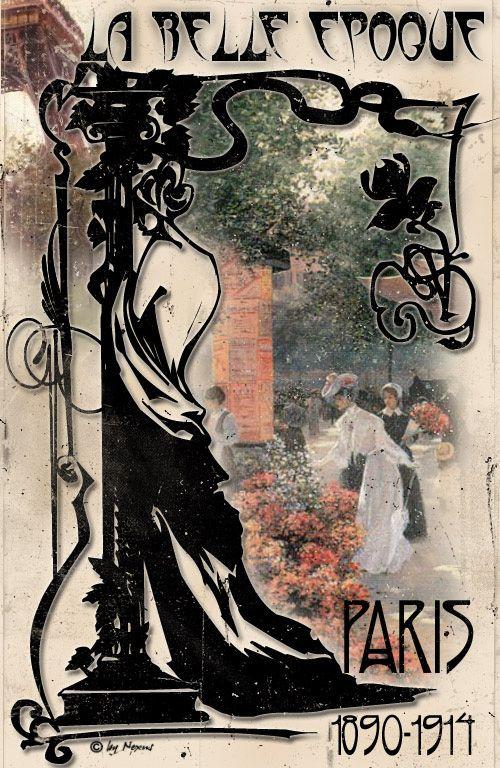 """La belle époque. Essa foi uma época onde a moda era exclusiva das elites. As mulheres tinham cinturas de vespas e peito de pombo formando uma silhueta de """"S""""."""