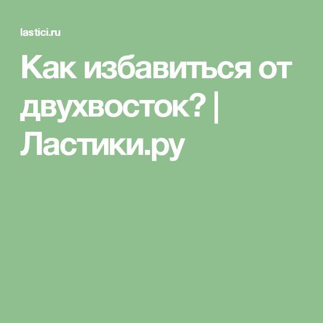 Как избавиться от двухвосток?   Ластики.ру