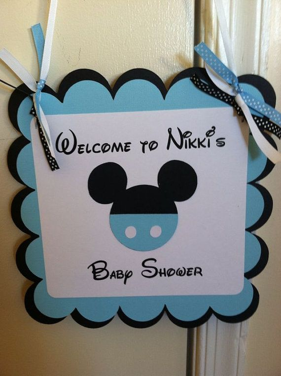 Mickey Mouse Baby Shower | Mickey Mouse Baby Shower Sign, Mickey Party  Sign, Mickey