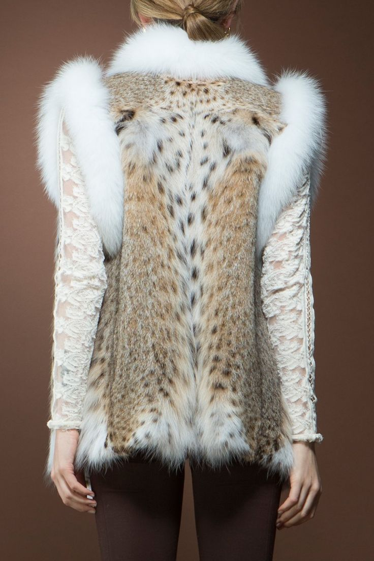 American Lynx and Fox Fur Vest