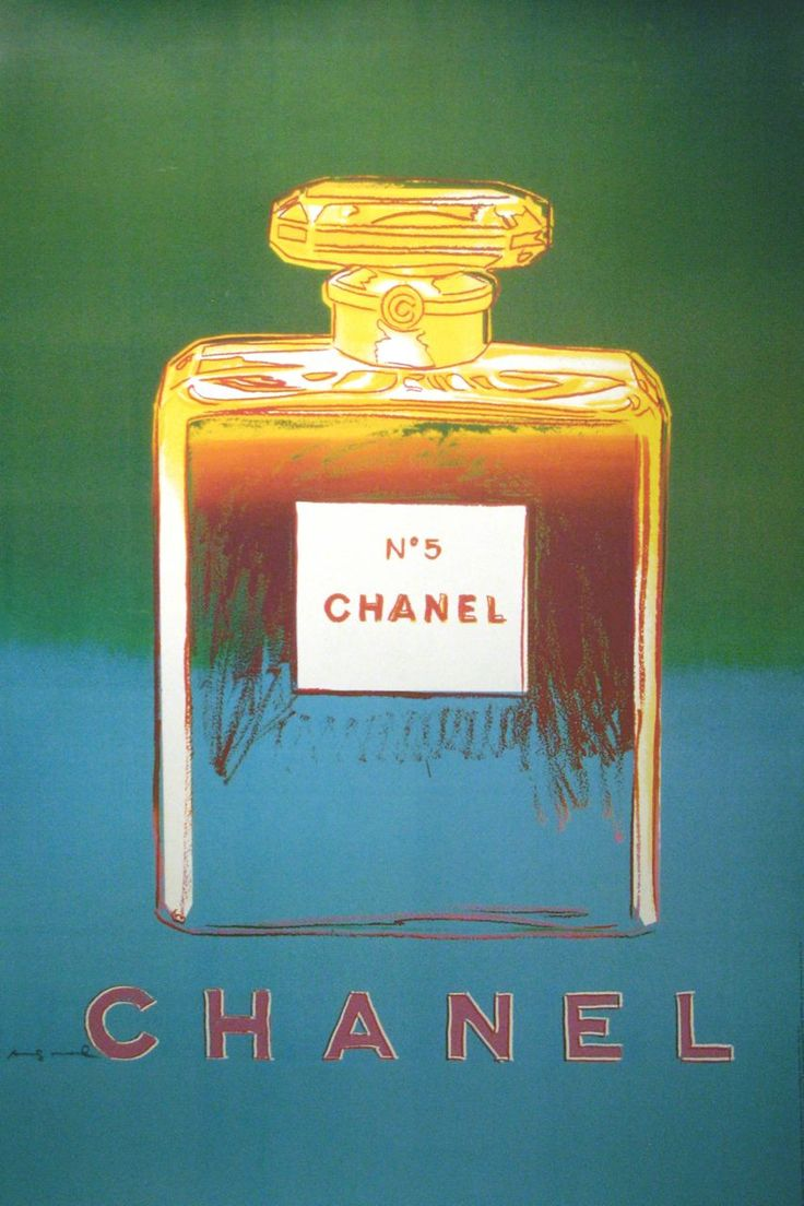 During the 1980's Andy created a series of screen prints called Avs which included exquisite portraits of colorful Chanel No. 5 bottles. They were included in an edition of 190 and at the time fetched between $25,000 and $100,000. Chanel liked what he did and asked him to create something similar to put on the street for their next campaign. However, due to his sad and sudden death in 1987 the posters were not released until 1997 with authorization from the Warhol foundation.