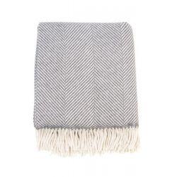 Foxford Merino plaid sildeben grå og hvid