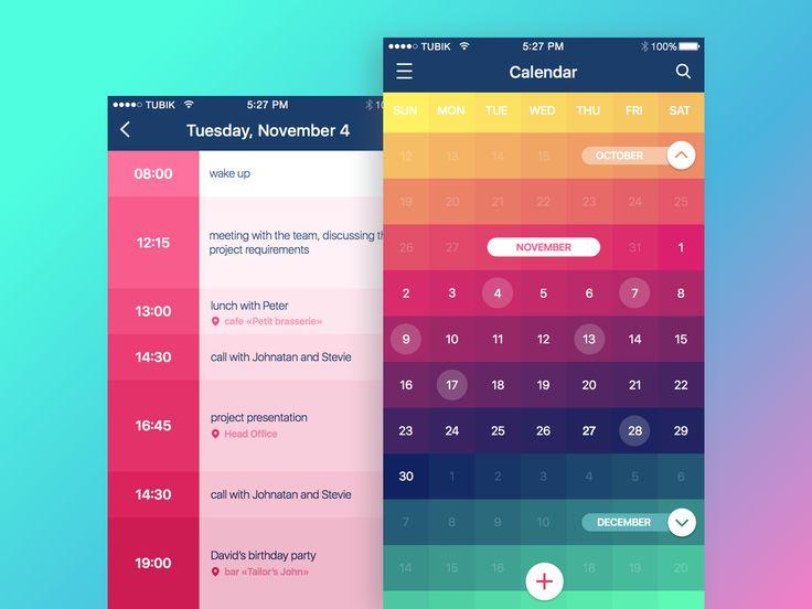 Calendar app 2x
