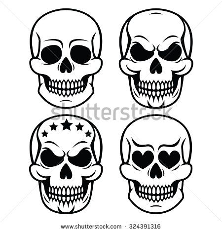 Halloween human skull design - death, Day of the Dead by RedKoala