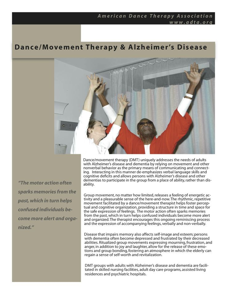 study on dance movement therapy Dance/movement therapy is a creative form of psychotherapy that uses  movement, as well as words, to help people—those who are generally healthy as  well as.