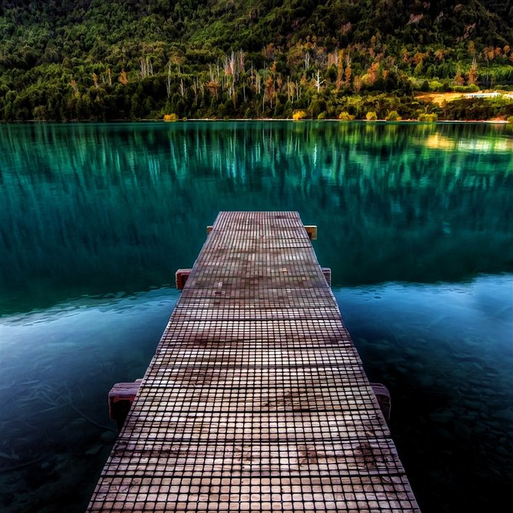 Pure Beautiful Calm Lake Wooden Bridge #retina #iPad #Air #wallpaper