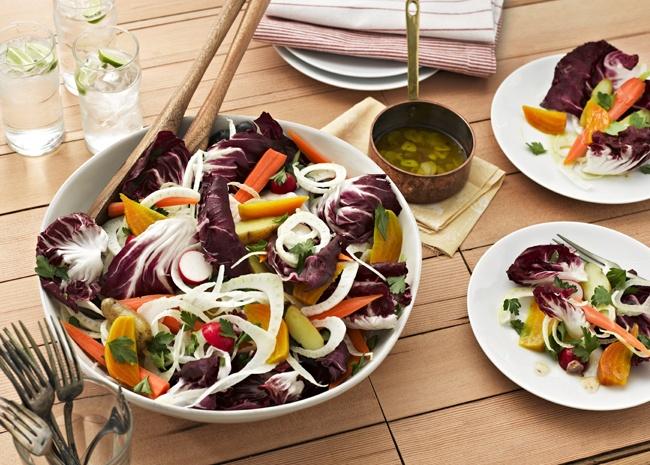 root vegetable salad bagna cauda salad #root #vegetable #salad