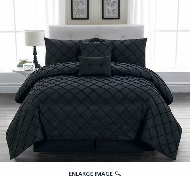 6 Piece King Melia Black Comforter Set Black Comforter Setsqueen Bedding