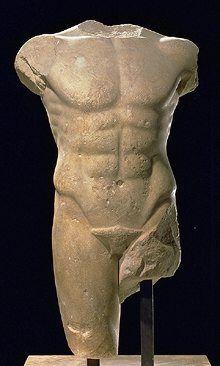 Мужской торс из Милета  480-470 гг до н.э. Лувр