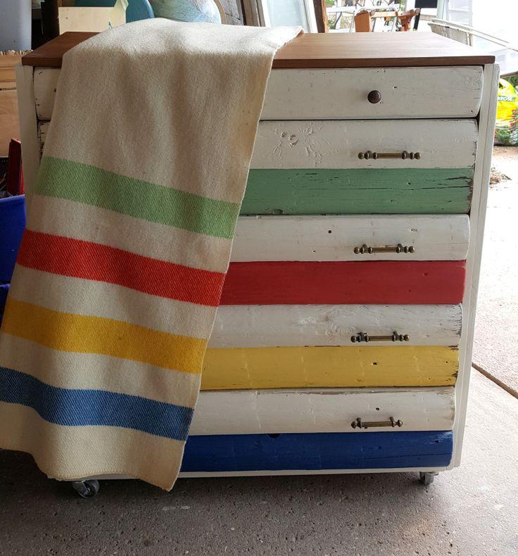 my interpretive Hudson's Bay Blanket dresser                                                                                                                                                                                 More                                                                                                                                                                                 More