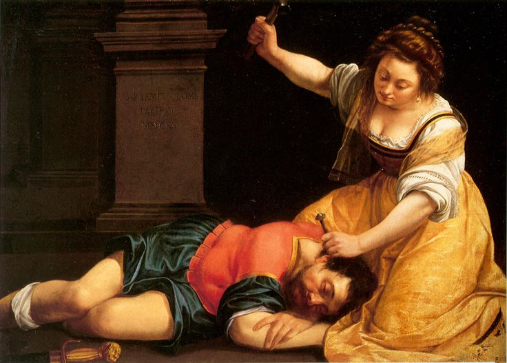 Artemisia Gentileschi - Jael and Sisera  Sisera was a warlord to Jabin, the king of Canaan who had been oppressing the Israelites for many years. But under the leadership of Barak and Deborah the Israelites finally succeed in slaying Jabin's army. Sisera runs and seeks refuge in the tent of Jael. The families of Jael's husband and Jabin were friends, so Sisera...