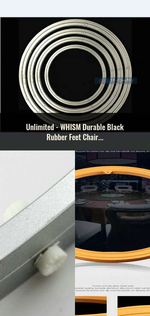 Whism Durable Black Rubber Feet Chair Floor Protector Non Slip Furniture Table Leg Cover