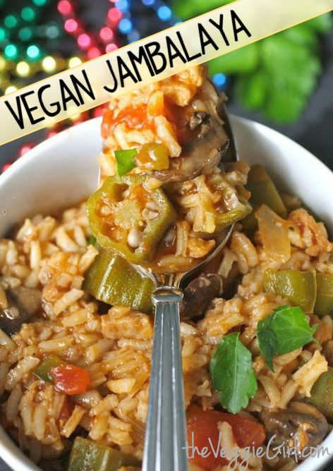 """Let the Good Times Roll"" with this #Vegan Jambalaya... just in time for #MardiGras!"