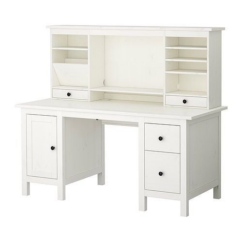 I'm still looking for the perfect desk. This is close!   HEMNES Desk with add-on unit - white - IKEA $699