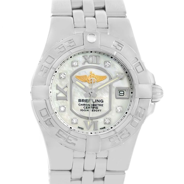 Breitling Starliner Mother of Pearl Diamond Dial Ladies Watch A71340