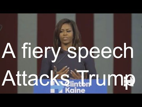 First lady Michelle Obama Speech Today 10/13/16 : Trump tape has 'shaken me to my core' - YouTube