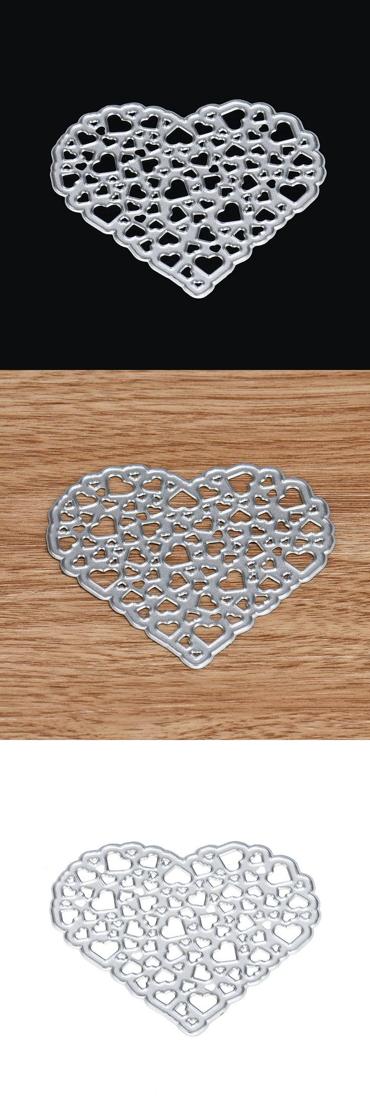[Visit to Buy] 2017 HOT Big Shot  Heart Metal Cutting Dies Stencils For Walls DIY Scrapbooking Album Paper Card Craft I Carbon Sizzix Frame #Advertisement