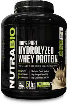 NutraBio Hydrolyzed Whey Protein - 5 Pounds Vanilla - http://www.proteinshakesandvitamins.org/nutrabio-labs/nutrabio-hydrolyzed-whey-protein-5-pounds-vanilla/