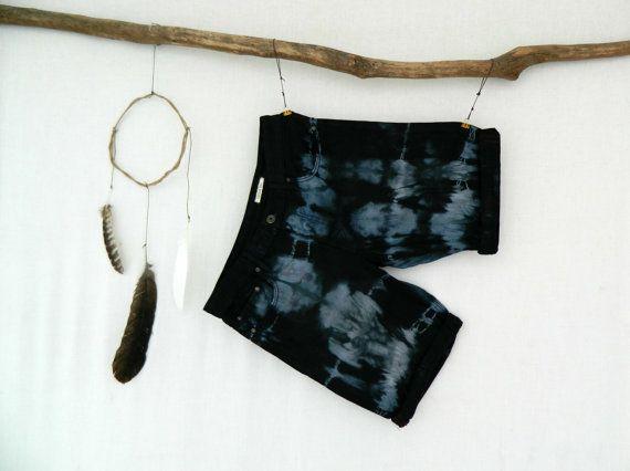 WAYFARER . men's tie dye denim shorts . size 82 by bohemianbabes
