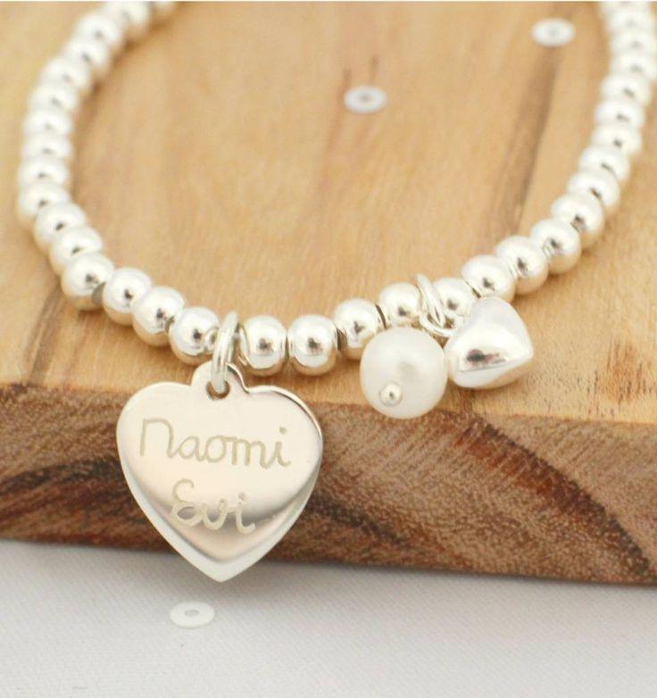 Zilveren armband 'Cute Balls' Groot hartje & Parel