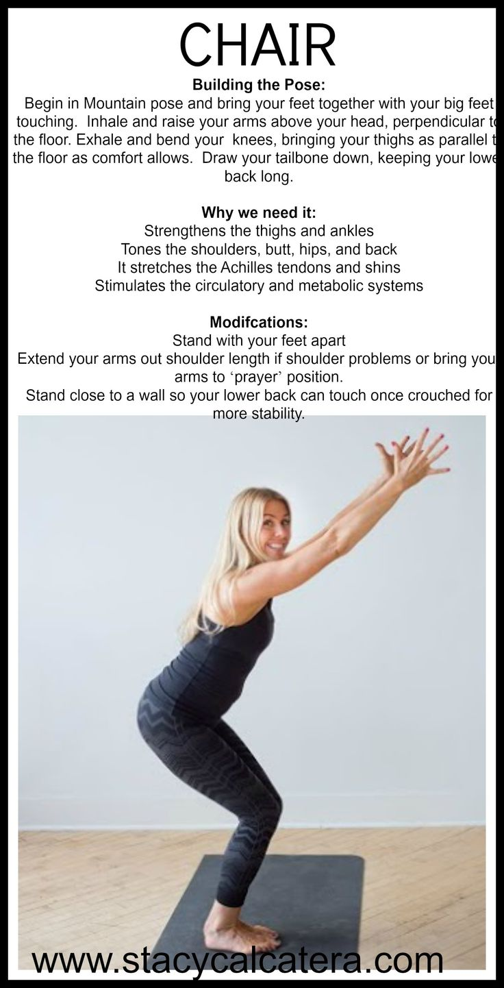 Printable chair yoga poses -  Chair Yoga Chairpose Stacycalcatera Www Stacycalcatera Com