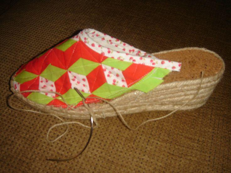 Zapatillas de esparto con técnica meshwork