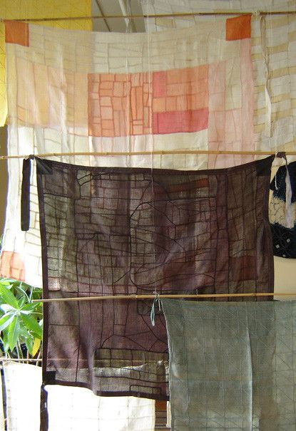The attraction to Pojagi nowadays may be their uncanny resemblance to Modernist aesthetic, much like our fascination with Japanese boro textiles.  The pojagi shown here resemble early Mondrian paintings or maybe a Frank Lloyd Wright window.