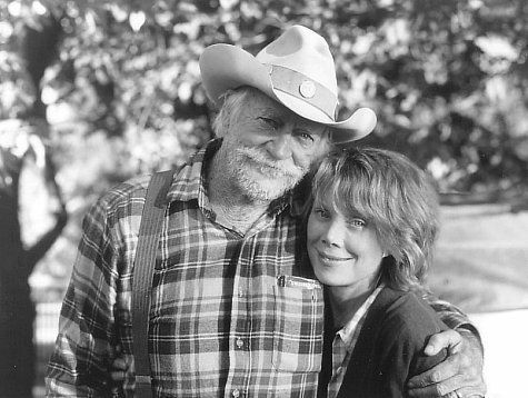 Sissy Spacek and Richard Farnsworth on The Straight Story set, northern Iowa, 1998.