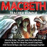 MACBETH CHARACTERS, TASK CARDS, FLIP BOOK, QUIZZES, WRITIN