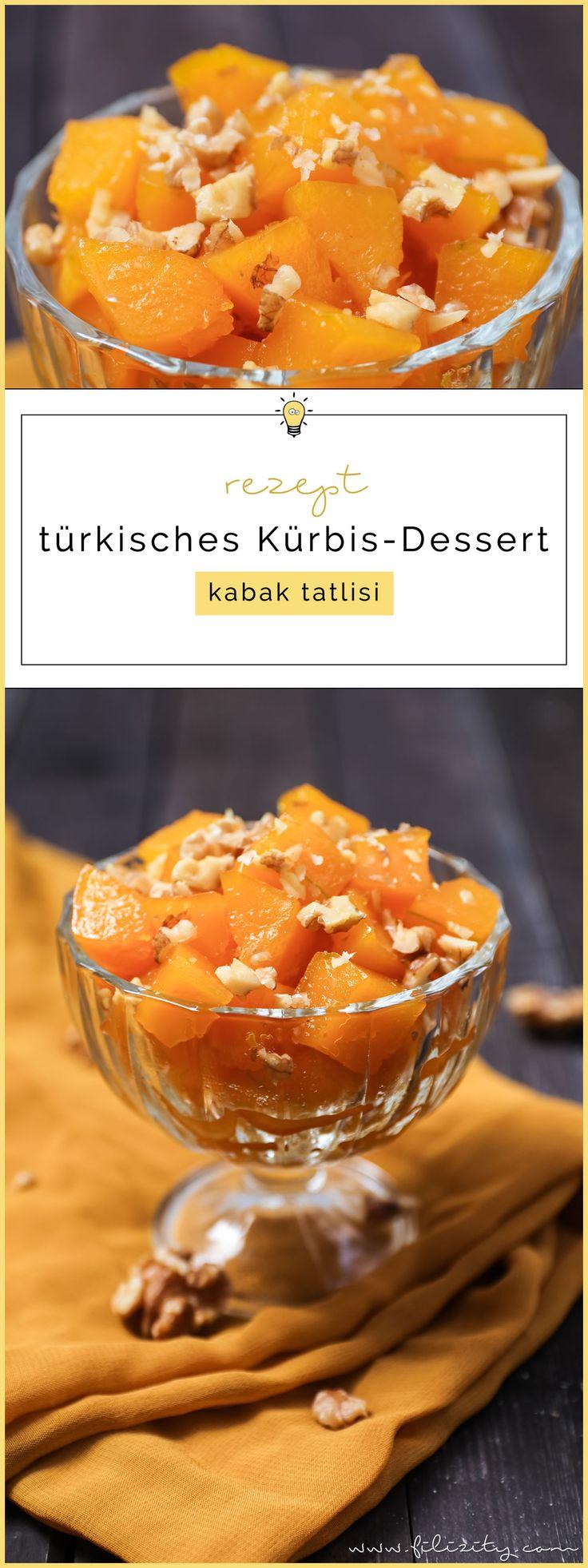 Herbst-Rezept: Türkisches Kürbis-Dessert (Kabak Tatlisi) #dessert #kürbis #vegan