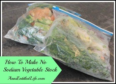 How To Make No Sodium Vegetable Stock | Recipe