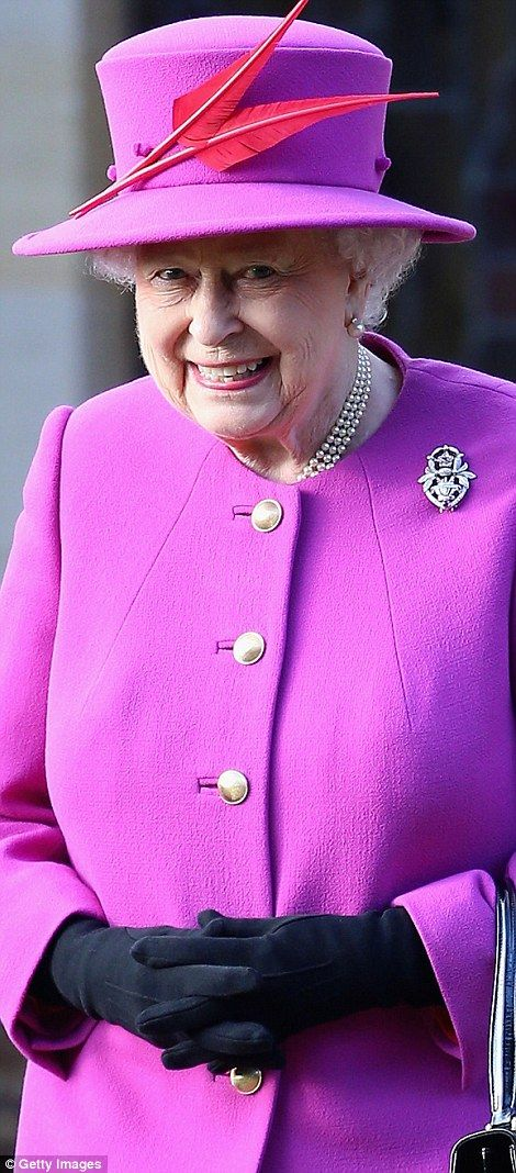 dailymail: British Royals attend Christmas service at St. Mary Magdalene Church, Sandringham, December 25, 2014-Queen Elizabeth