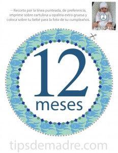 los famosos círculos que muestran la edad de nuestros bebés cuando tenemos una sesión de fotos, o cuando cumplen mes o años.