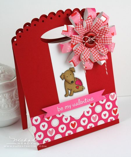 Love this card: Gift Bags, Paper Flower, Cards Valentine, Valentine Cards, Valentine Gifts, Pti Valentine, Valentine S